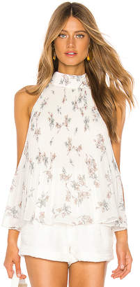 1 STATE Halter Tie Pleated Floral Belle Blouse