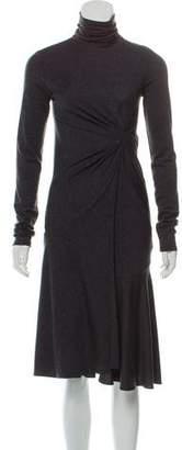 Brunello Cucinelli Gathered Sweater Dress