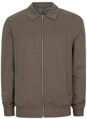 Topman Mens Green Khaki Tencel Smart Coach Jacket