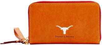 Dooney & Bourke NCAA Texas Zip Around Phone Wristlet