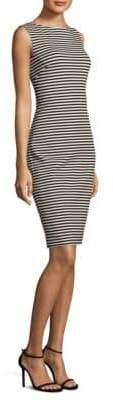 Max Mara Striped Sleeveless Sheath Dress