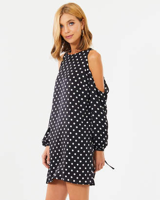 Jacinda Cold Shoulder Shift Dress