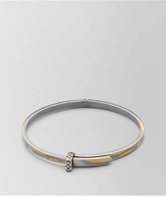 Bottega Veneta Antique Silver/Yellow Gold Patina Bracelet