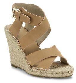 Joie Kaelyn Nubuck Espadrille Wedge Sandals $278 thestylecure.com
