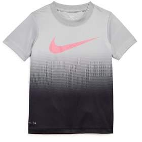 Nike Boys' Ombré Swoosh Dri-Fit Tee - Little Kid