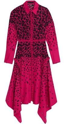 Proenza Schouler Asymmetric Broderie Anglaise Midi Dress