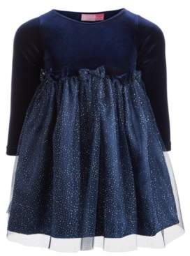 Good Lad Toddler Girls Velvet Glitter Dress
