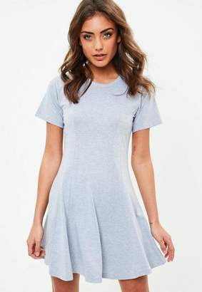 Missguided Gray Jersey Skater Dress