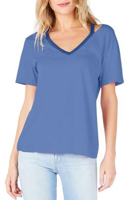 Michael Stars Cutout V-Neck Tee
