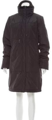 Post Card Knee-Length Puffer Coat