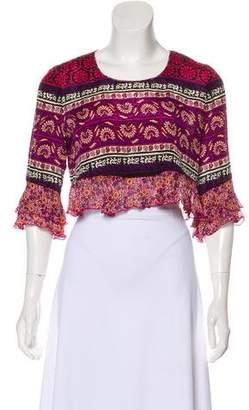Anna Sui Silk Crop Top