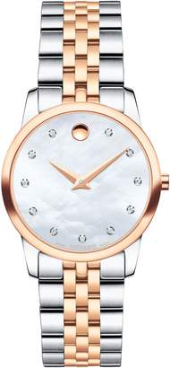 Movado Classic Museum Diamond Bracelet Watch, 28mm