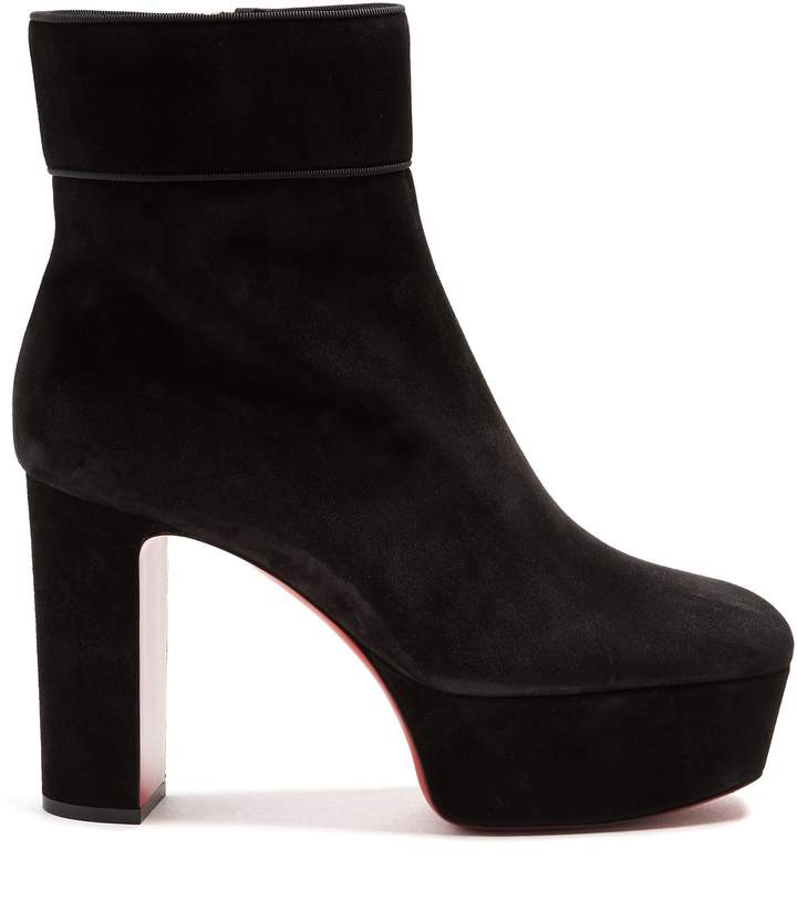 CHRISTIAN LOUBOUTIN Protorlato 110mm suede platform ankle boots