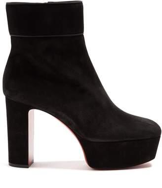 Christian Louboutin Protorlato 110 suede platform ankle boots