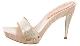 Casadei Metallic Platform Sandals