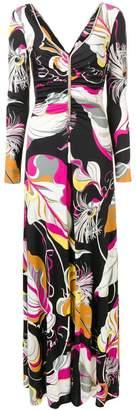 Emilio Pucci psychedelic leaf print dress