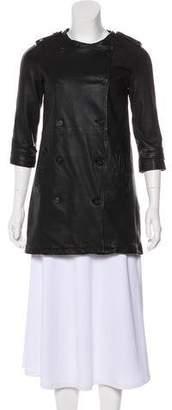 AllSaints Leather Short Coat