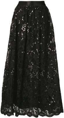 Alice + Olivia Alice+Olivia sequinned lace maxi skirt