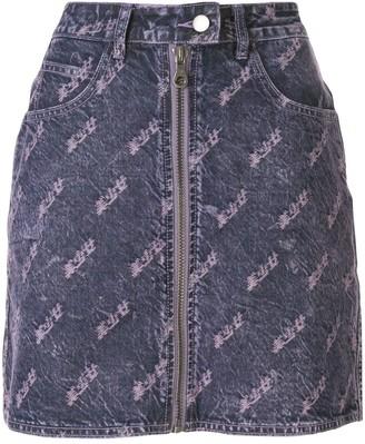 Ground Zero distressed denim skirt