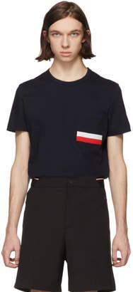 Moncler Navy Flag Pocket T-Shirt