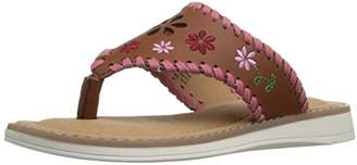 Hanna Andersson Dagmar Girl's Embroidered Thong Sandal(Toddler/Little Kid/Big Kid)