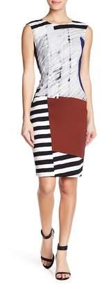 Milly Sleeveless Printed Midi Sheath Dress
