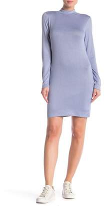 Free Press Mock Neck Long Sleeve Shift Dress