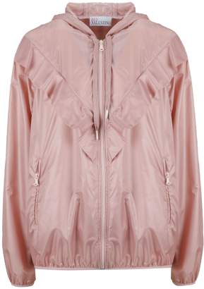 RED Valentino Ruffle Detailed Bomber