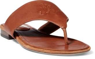Ralph Lauren Deandra Leather Thong Sandal