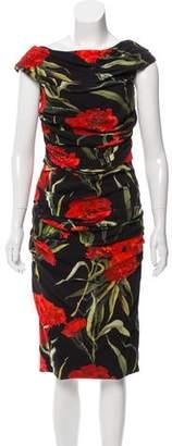 Dolce & Gabbana Draped Carnation Dress