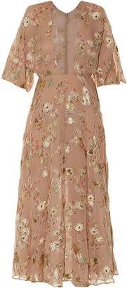 VALENTINO Floral fil coupé midi dress $7,900 thestylecure.com