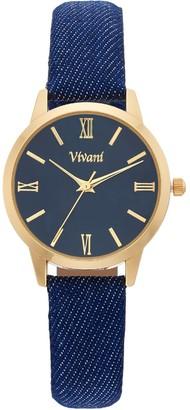 Vivani Women's Denim Watch