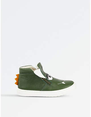 STEP2WO Grisu leather high top trainer
