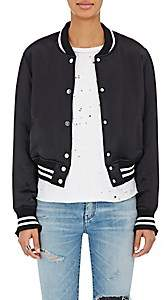 Amiri Women's Insulated Silk Bomber Jacket - Black