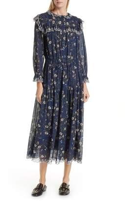 Etoile Isabel Marant Eina Floral Print Midi Dress