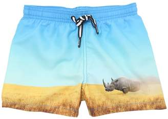 Molo Rino Printed Nylon Swim Shorts