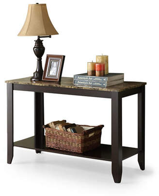 Monarch Rectangular Marble-Look Console Table