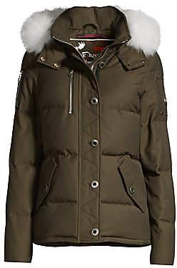 Moose Knuckles Women's Fox Fur-Trim Quilted Jacket