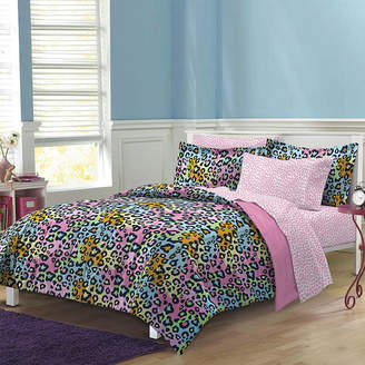 MY ROOM My Room Neon Leopard Complete Bedding Set with Sheets