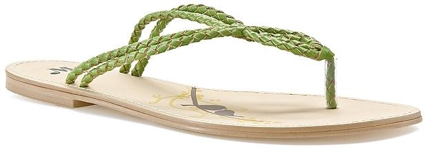 Miss Me Gemma 10 Woven Wishbone Sandal - Green