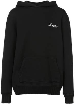 Amiri Lovers embroidered pullover hoodie
