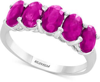 Effy Certified Ruby Ring (2-1/8 ct. t.w.) in Sterling Silver