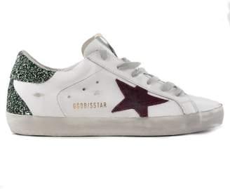 Golden Goose Heel Glittered Sneakers
