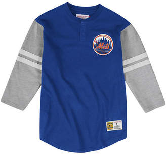 Mitchell & Ness Men New York Mets Heyday Henley T-Shirt