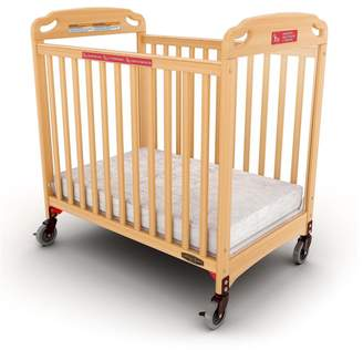 Child Craft Safe Haven Professional Series Evacuation Compact Crib with Mattress