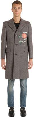 Gucci Vintage Wool Coat With Patch
