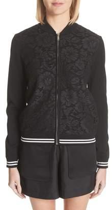 Valentino Lace Front Bomber Jacket