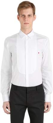 Neil Barrett Plastron W/ Heart Cotton Poplin Shirt