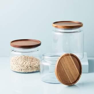 west elm Glass Jars w/ Acacia Lids