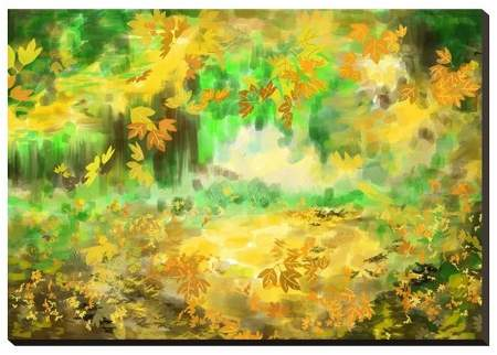 Cg Painting Autumn Background Unframed Wall Canvas